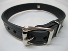 Fashionable choker, day collar , leather,